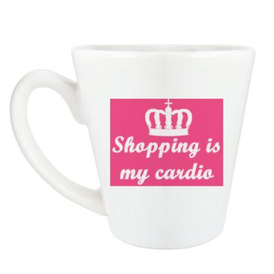 Чашка Латте shopping is my cardio