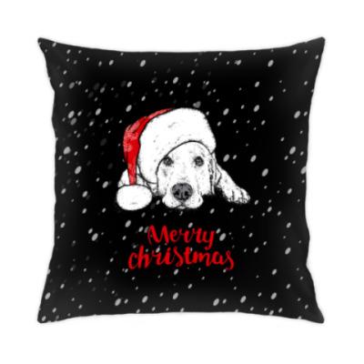 Подушка Собака Санта