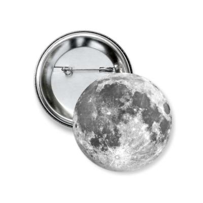 Значок 37мм Луна