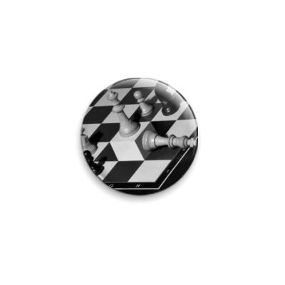 Значок 25мм Шахматная иллюзия