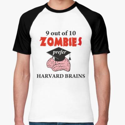 Футболка реглан Harvard brains