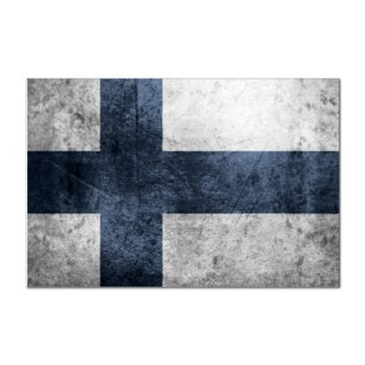 Наклейка (стикер) Финский флаг