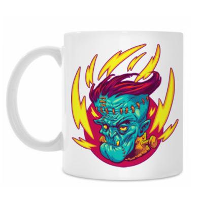Кружка Франкенштейн в огне