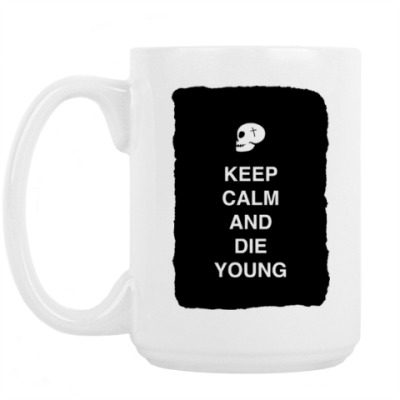 Кружка Keep calm and die young