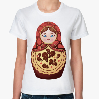 Классическая футболка Матрешка