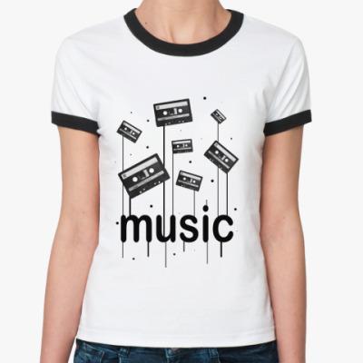 Женская футболка Ringer-T Music
