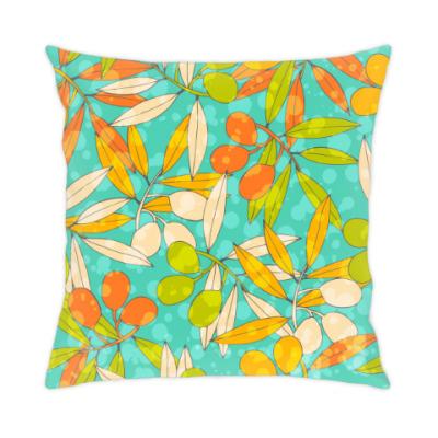 Подушка яркие оливки