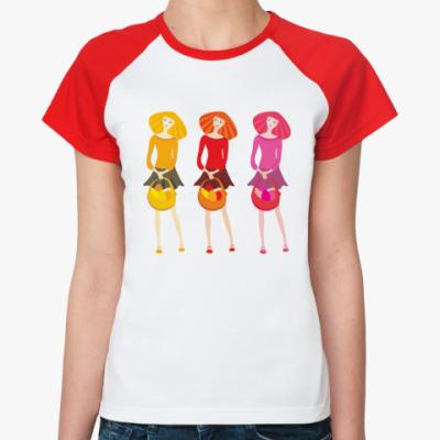 Женская футболка реглан  'Пасха'