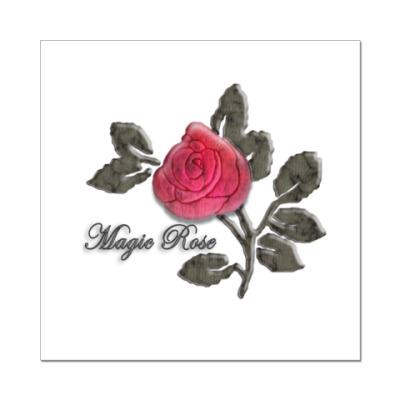 Наклейка (стикер)  Magic Rose