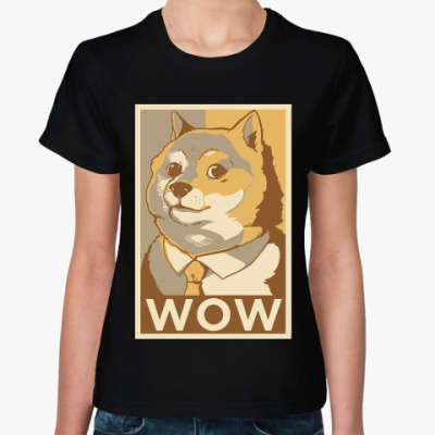 Женская футболка Собакен