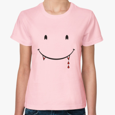 Женская футболка Вампирская улыбочка