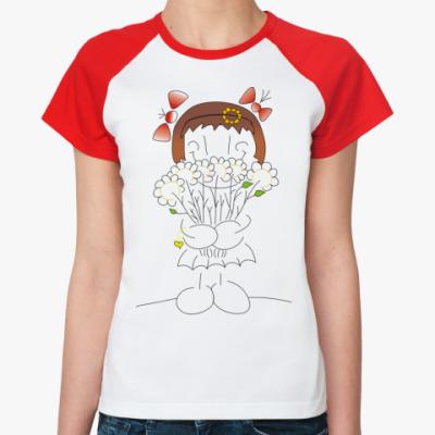 Женская футболка реглан 'St.Valentay'