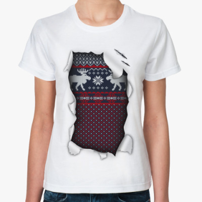 Классическая футболка 'Свитер'