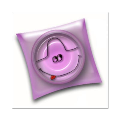 Наклейка (стикер) Pink condom