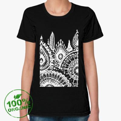 Женская футболка из органик-хлопка Зима
