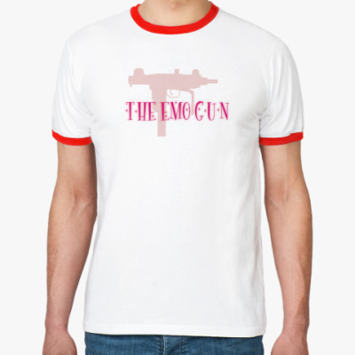 Футболка Ringer-T The emo gun