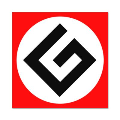 Наклейка (стикер) Граммарнацистская наклейка