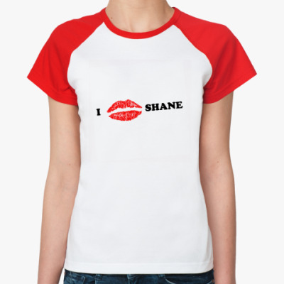 Женская футболка реглан  Love Shane
