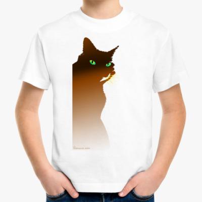 Детская футболка Рыжий кот