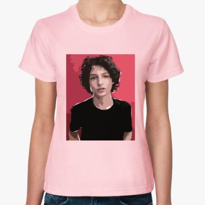 Женская футболка Финн Вулфард