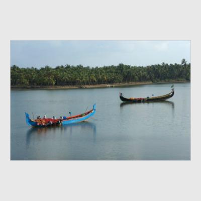 Постер People and boats