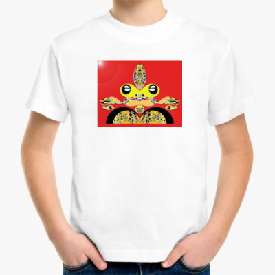 Детская футболка Абстракция Царевна лягушка