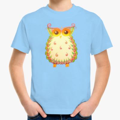 Детская футболка Теплая сова из Индии