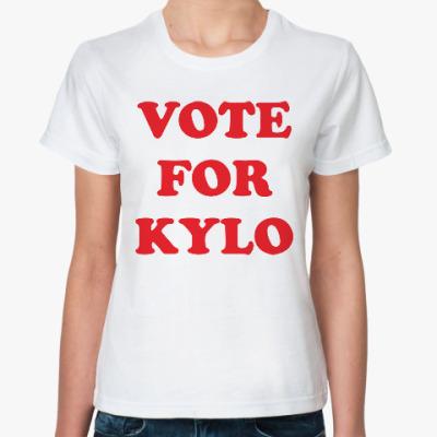 Классическая футболка Голосуй за Кайло Рена
