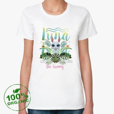 Женская футболка из органик-хлопка Зайка Луна