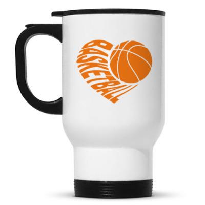Кружка-термос Баскетбол в сердце