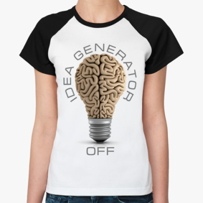 Женская футболка реглан Idea generator (off)