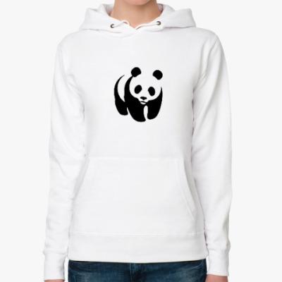 Женская толстовка худи WWF. Панда