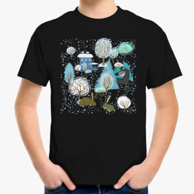 Детская футболка 'Волк зимой...'