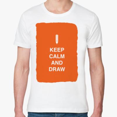 Футболка из органик-хлопка Keep calm and draw