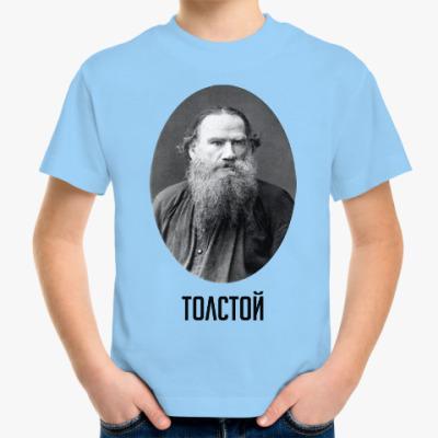 Детская футболка Лев  Толстой