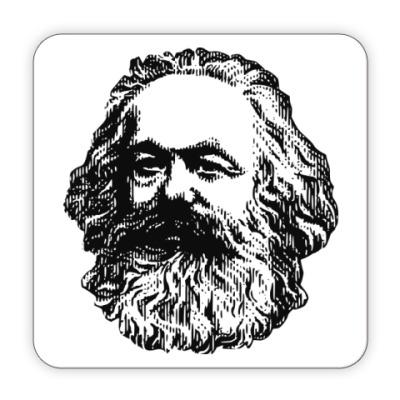 Костер (подставка под кружку) Подставка п/кружку  Карл Маркс