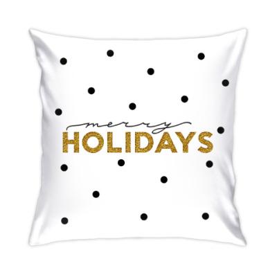 Подушка Merry holidays