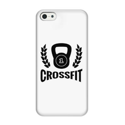 Чехол для iPhone 5/5s Кроссфит логотип с гирей
