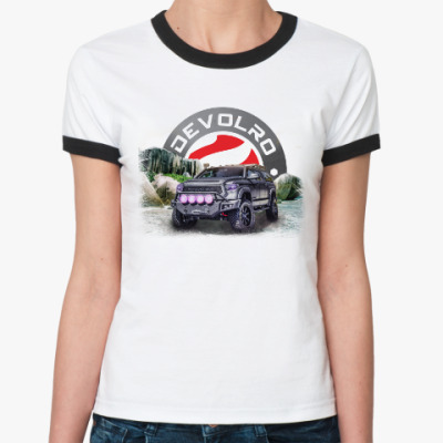 Женская футболка Ringer-T DEVOLRO