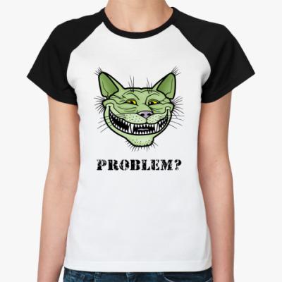 Женская футболка реглан Кото-тролль Кото-тролль, troll