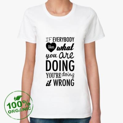Женская футболка из органик-хлопка 'Wrong'