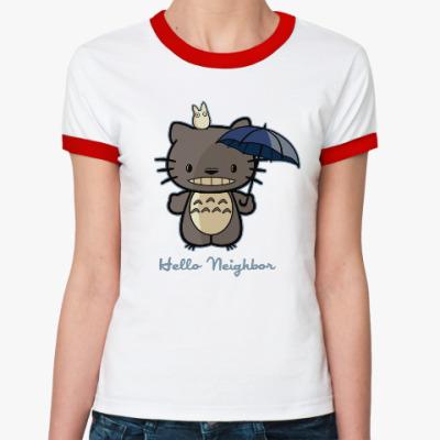 Женская футболка Ringer-T Hello Totoro