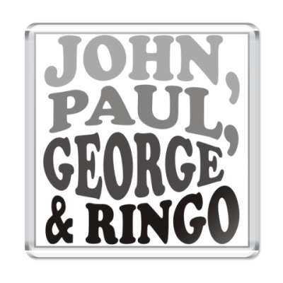 Магнит  John.Paul.George&Ringo