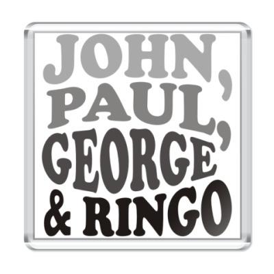Магнит  John.Paul.George&Ringo