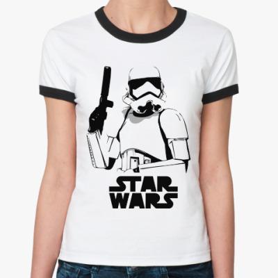 Женская футболка Ringer-T Star Wars VII