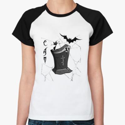 Женская футболка реглан  CAT