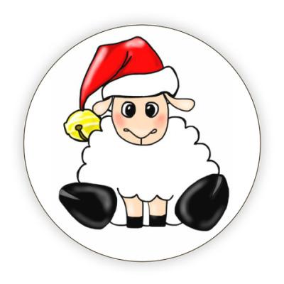 Костер (подставка под кружку) Новогодняя овечка