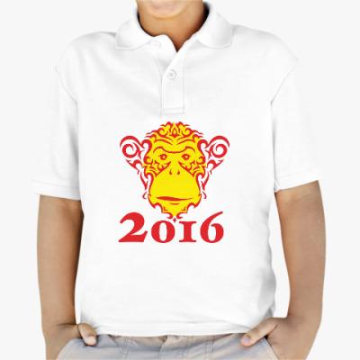 Детская рубашка поло Год обезьяны 2016