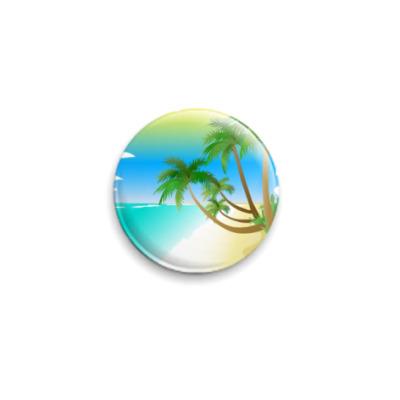 Значок 25мм  Palms