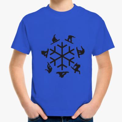 Детская футболка snowboard